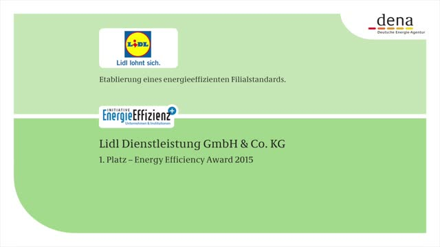 DENA Energy Efficiency Award 2015: 1. Preis